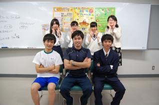 Hiroshima Kannon High School students exuding confidence and sense of fun