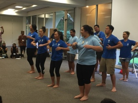 New Zealand-Maori students performing haka