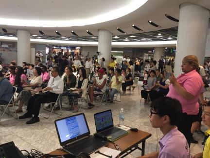 A public forum in Hiroshima